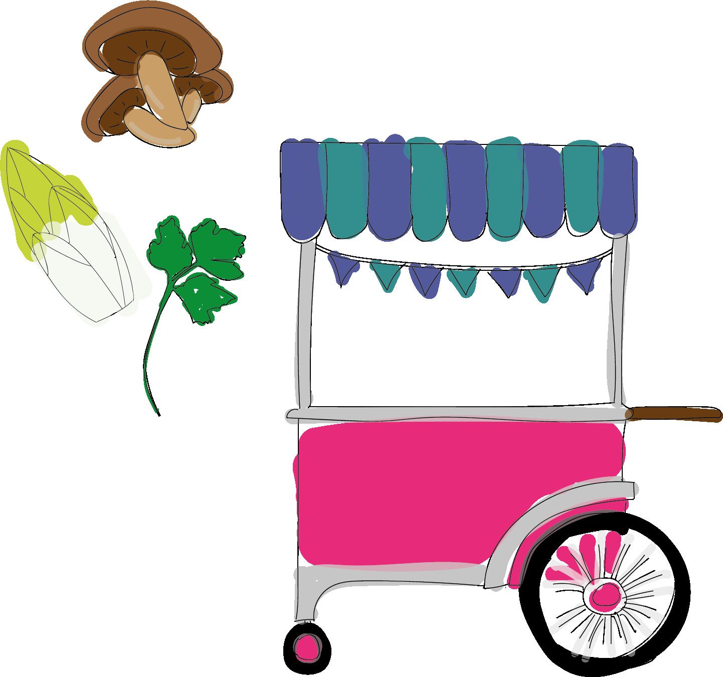 Illustration de chariot La Caverne